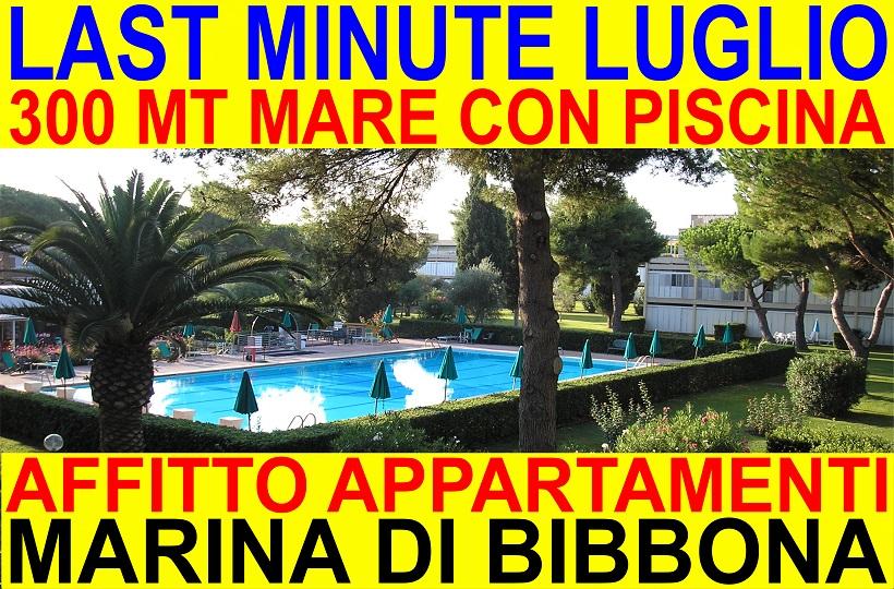 Last minute Luglio Marina di Bibbona affitto appartamenti vacanze con piscina