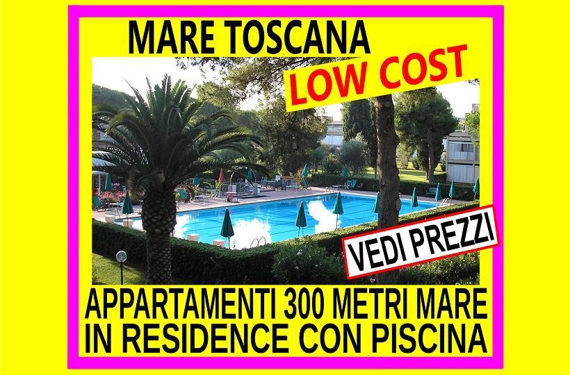 Affitto appartamenti Luglio a Marina di Bibbona in residence con piscina